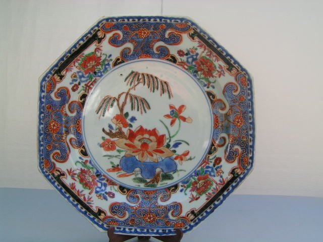 Four Imari octagonal plates - China - 18th century