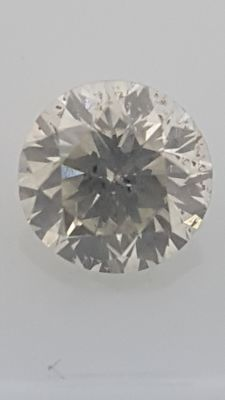 1.05 ct - Round Brilliant  - White - G / SI2