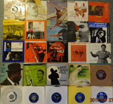 25 x Jazz on 45 RPM, mostly EP's.