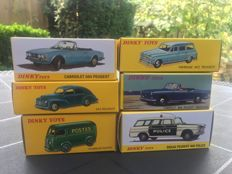 Atlas-Dinky Toys - Scale 1/43 - Lot with 6 Peugeots