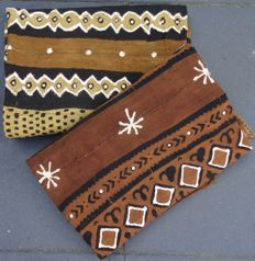Lot 2 'Bogolanfini' (Bogolan) cloths - BAMBARA-Mali