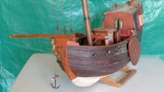 Sailing Ship Wooden Model, States Yacht -Wooden Model Boat