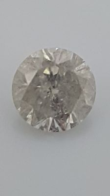 1.42 ct - Round Brilliant - White - G / I1