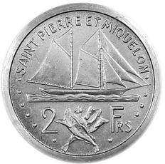 Saint Pierre & Miquelon (colony) - 2 Francs 1948 Essai Piefort - Aluminium