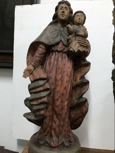 Great Virgin in polychrome wood - Portugal - 18th century