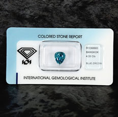 Blue zircon - 4.33ct