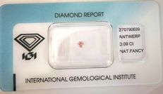 0.09 ct. rare brilliant cut pink diamond (low reserve price)