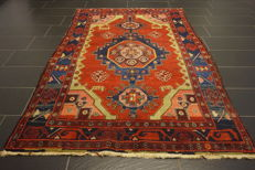 Old Persian carpet, Malayer Hamadan, 150 x 240cm, natural colours, made in Iran