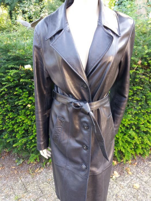 Ventcouvert Paris - Stunning long coat of lambskin leather in new condition