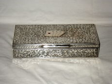 Large Silver Case for playing cards :  entirely chiseled by hand - Italian Silver - '40