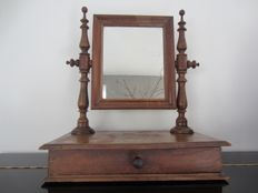 Wooden vanity mirror, tilting - Netherlands - circa 1900