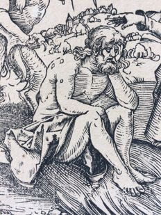 Albrecht Dürer (1471 - 1528) - De verleiding van Job - 1509 - probably 17th century print