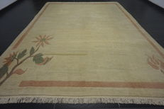 Beautiful hand-knotted oriental carpet, Nepalese designer carpet, 250 x 351 cm, mint condition