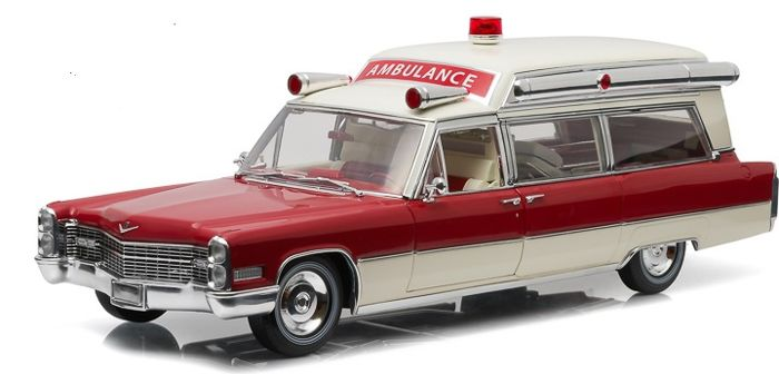 greenlight precision collection scale 118 cadillac ss high top ambulance 1966 - Ambulance Pictures To Colour
