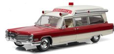 Greenlight Precision Collection - Scale 1/18 - Cadillac S&S High Top Ambulance 1966 - Colour: Red / White