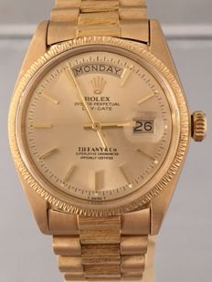 Rolex - Oyster Perpetual Day Date Tiffany & Co - 18038 - Heren - 1970-1979