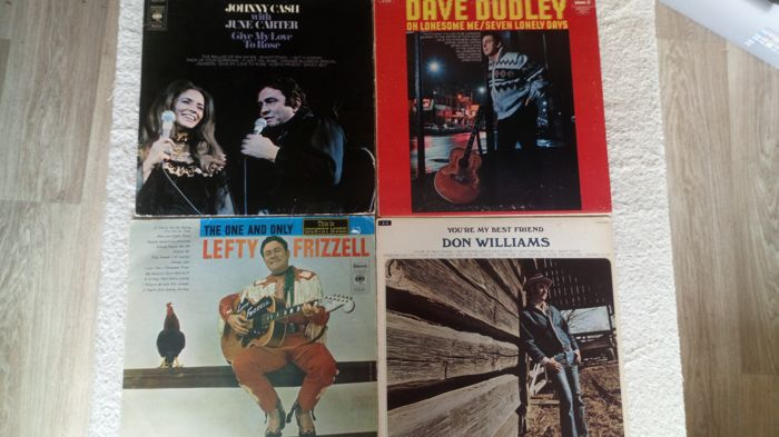 A great country lot with 11 albums by Don Williams (7), Lefty Frizzell(2), David Dudley and last but notaris last, Johnny Cash and June Carter.