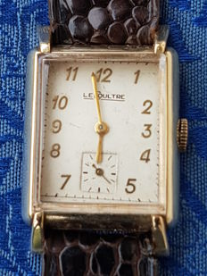 Le Coultre men's wristwatch in gold-plated steel, 1930s