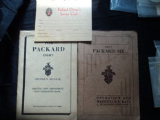 2 Packard manuals and 1 service card