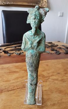 Very large Egyptian Osiris figure made of bronze - 220 mm