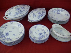 "Antique Dining Service - ""Old Frankenthal Style"" - Z.S. & Co - 21 Pieces"
