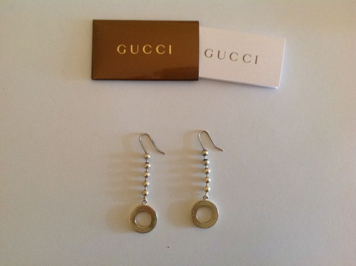 Gucci – Earrings in 925 silver – Length: 7.5 cm – Weight: 7.30 g