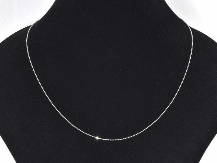 "18k. Gold Necklace. Chain ""Bead"" - 45 cm"