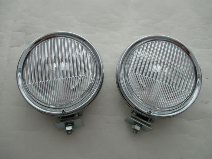 Hella - set 2 x round model spotlights - 1960s