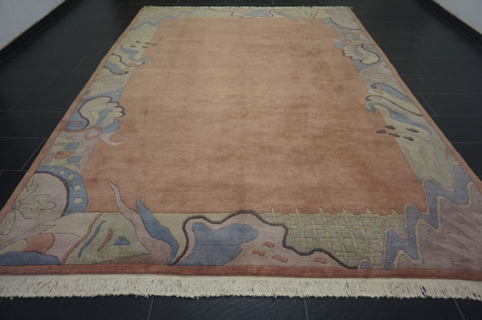 Beautiful hand-knotted oriental carpet, Nepalese designer carpet, 255 x 345 cm, mint condition