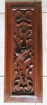 Beech carved panel in renaissance-style - France - late 19th century