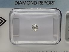 Diamond in old mine cut, 0.27 ct. I VS 2 with IGI certificate.