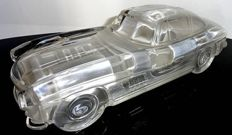 Mercedes-Benz 300SL - decorative crystal paperweight - Hofbauer Germany - 1955