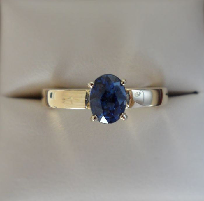 drop or sterling engagement ring palladium sapphire blue media deep white lab yellow in tear created gold rose