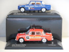 Minichamps - Scale 1/43 - Lot with 2 x Alfa Romeo Giulia
