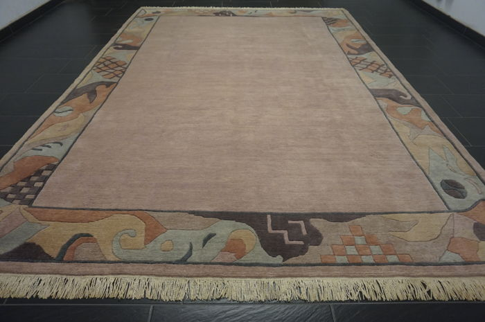 Beautiful modern Oriental carpet Nepal Tibet 250 x 350 cm made in Nepal carpet Tappeto Tapis rug old modern Tapijt
