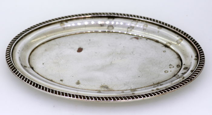 Antique Early 20th Century Silver Plate Butter Dish, Viners of Sheffield