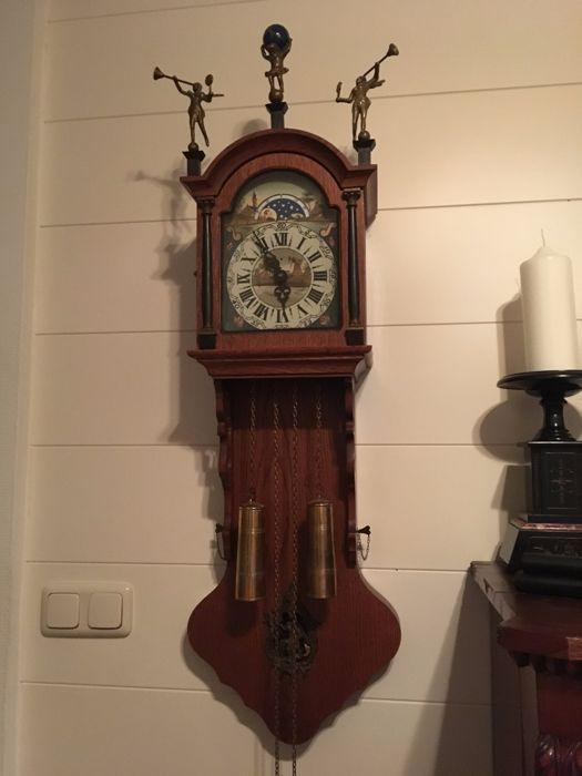 Frisian grandfather clock, 1969, the Netherlands