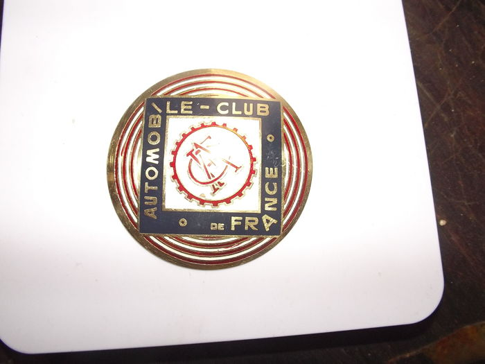 enamel grill Automobile-club de france 0riginal
