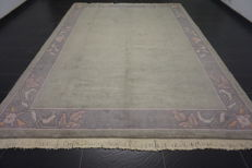 Beautiful hand-knotted oriental carpet, Nepalese designer carpet, 240 x 360 cm, mint condition
