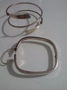 2x antique silver bracelets from the 1970s