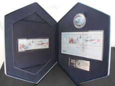 Canada - 5 Dollars 2006 'Coin & Stamp Set - Canadian Forces Snowbirds' - silver