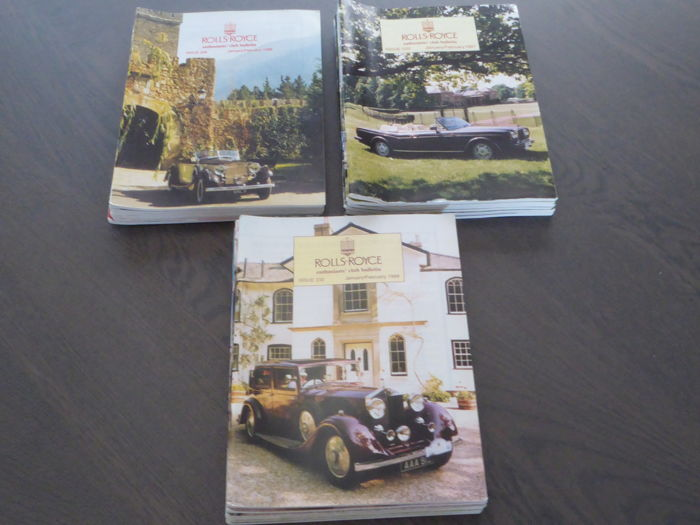 Books; Rolls Royce enthusiast's club bulletin - 1997/1999