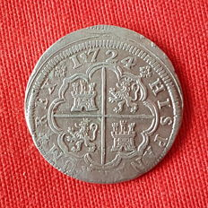 Philip V - 2 silver reales - Year 1724 - Mint of Madrid - A.