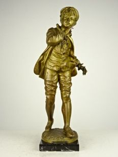 Fine zamac statue of a boy - France - 20th century