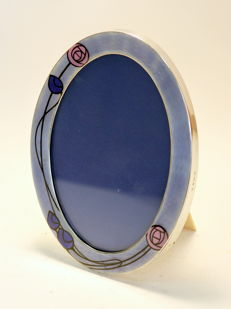Art Nouveau Sterling Silver and Enamel Picture Frame - Charles S Green & Co Ltd - Birmingham - 1911