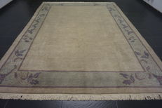 Beautiful hand-knotted oriental carpet, Nepal, designer carpet, 255 x 335 cm