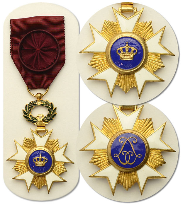 Kingdom of Belgium: Officer of the Order of the Crown with Gold Palms