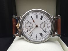 High grade Swiss chronograph - Men's marriage watch - ca 1900