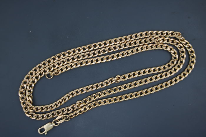 Curb chain made of 585 yellow gold, length 60 cm