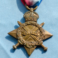 The 1914 -1915 Star awarded to Pte Horace Crofts 15211